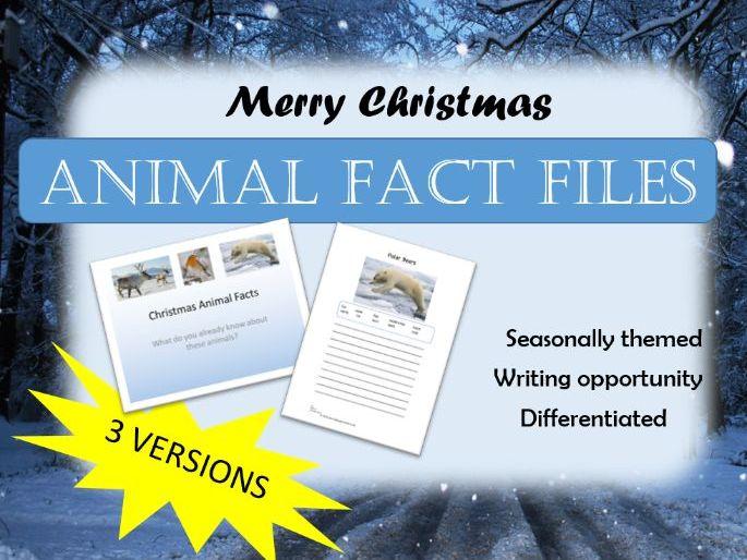 Christmas animals fact files