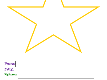 Star of the Week Template Certificate