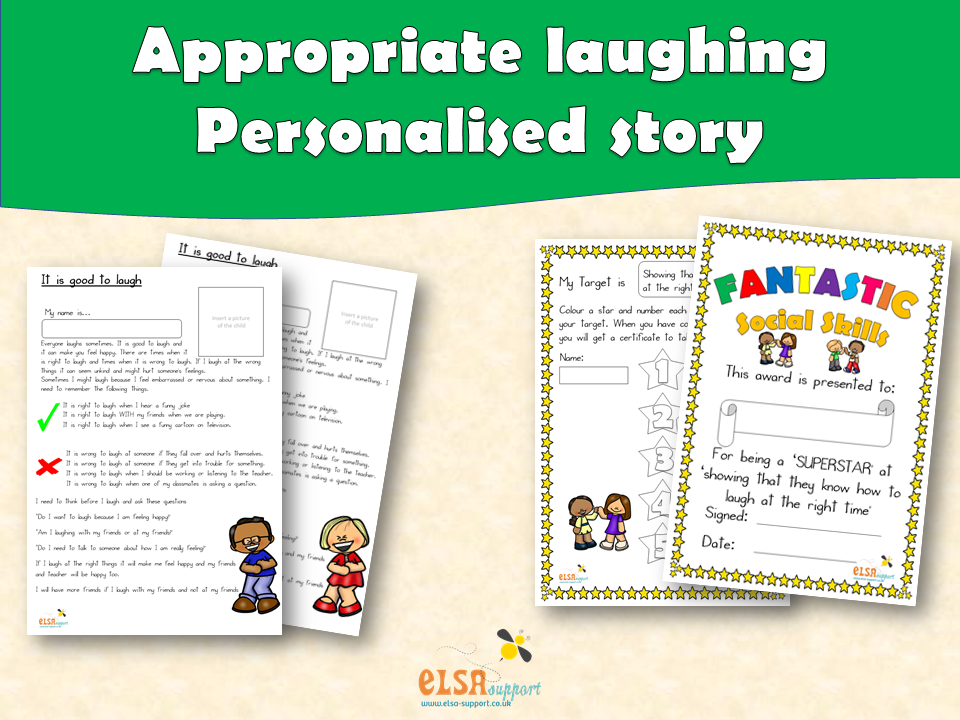 ELSA SUPPORT - Personalised story - Inappropriate laughing