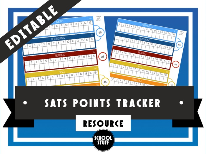 Editable SATs Points Tracker for Children - School Stuff