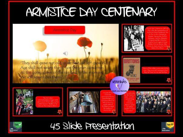 Armistice Day: Armistice Day Centenary Presentation