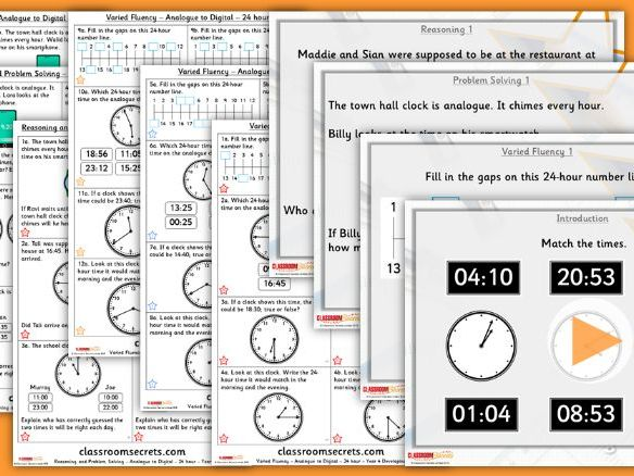 Year 4 Analogue to Digital - 24 hours Summer Block 3 Lesson Pack