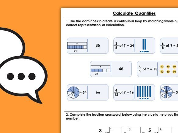 Year 4 Calculate Quantities Spring Block 3 Maths Discussion Problems