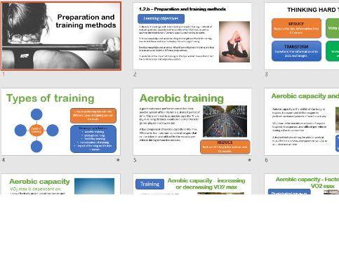 Aerobic Capacity and Training.  A Level PE