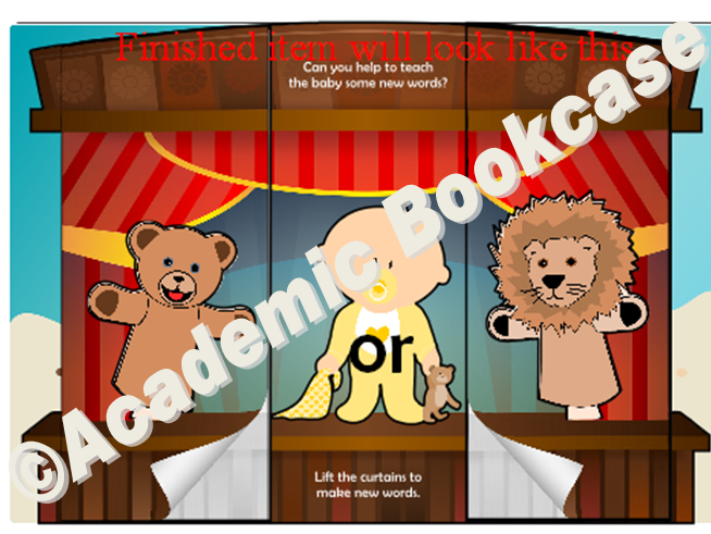 Puppet theatre word maker - Phase 3 'or' words