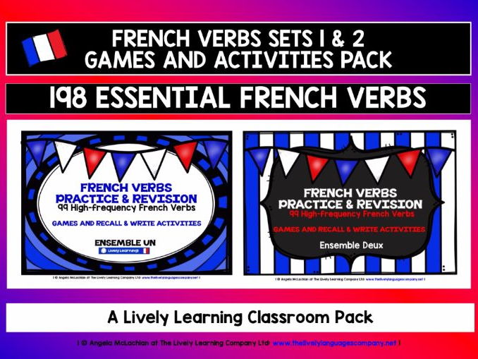FRENCH VERBS SETS 1 & 2 - GAMES & ACTIVITIES - 198 HIGH-FREQUENCY VERBS