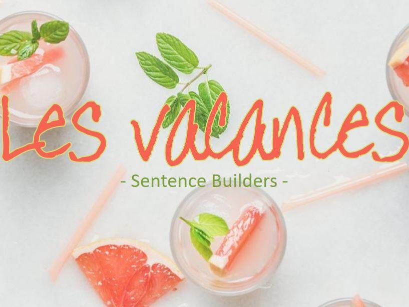 KS3 French - Holidays - Sentence Builders
