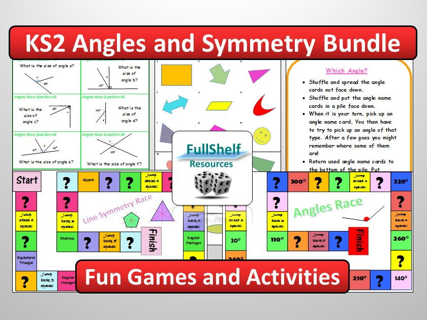 KS2 Angles / Symmetry Activities BUNDLE