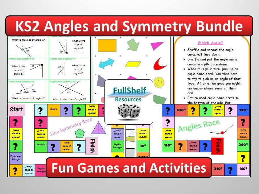 KS2 Angles / Symmetry Activities Bundle