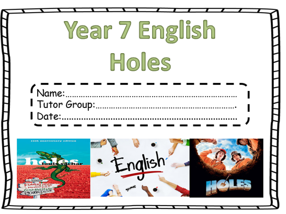 Holes Differentiated Work Booklets
