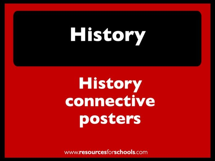 History connectives