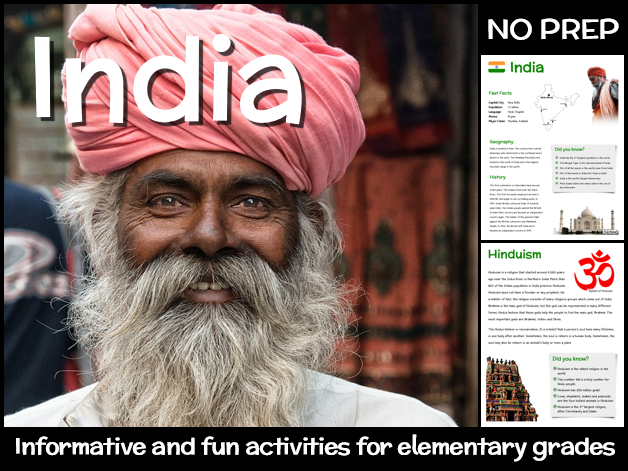 India (country study for elementary grades)
