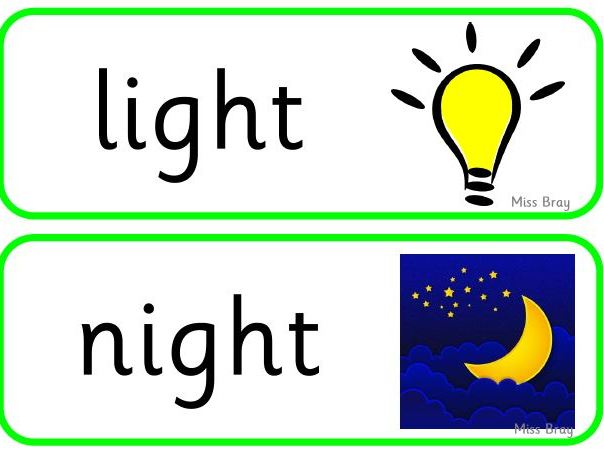 'igh' word cards - Phase 3 Phonics