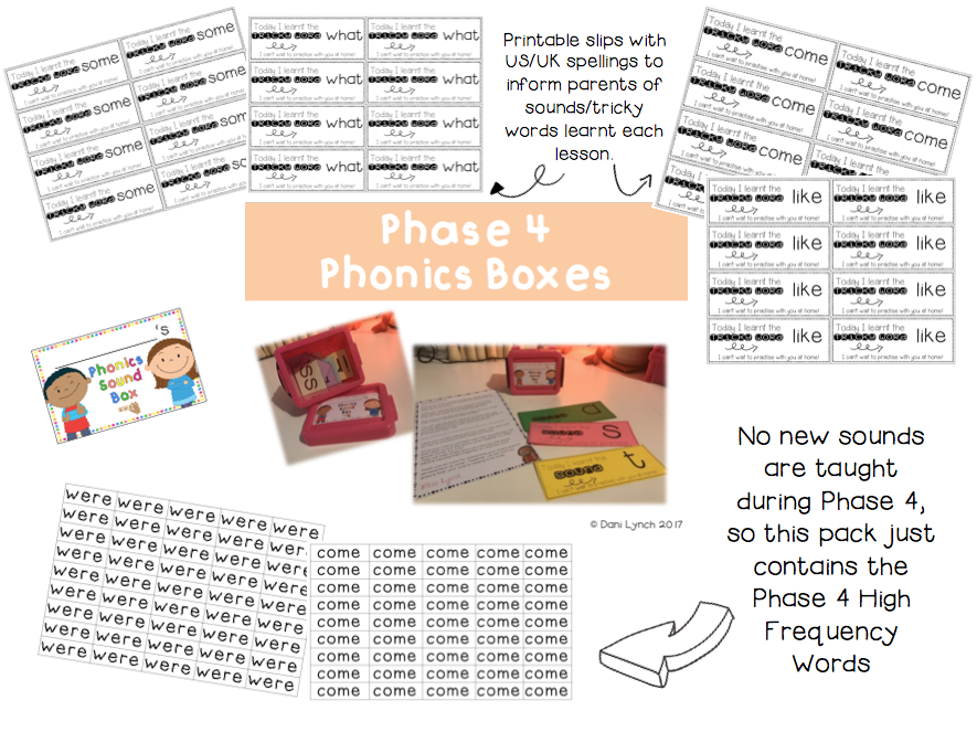 Phase 4 Phonics Sound Boxes