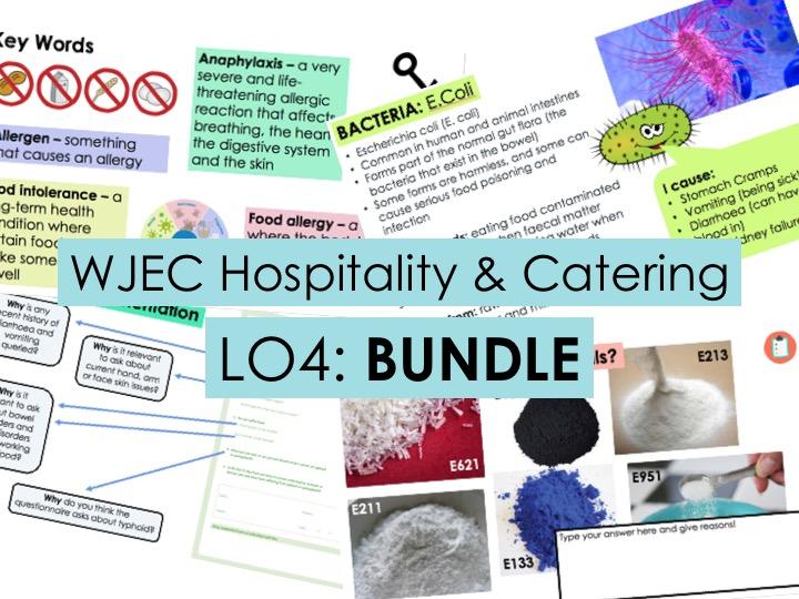KS4 WJEC Hospitality Unit 01 LO4 - FULL BUNDLE
