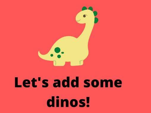 Add the Dinos- EYFS Worksheet