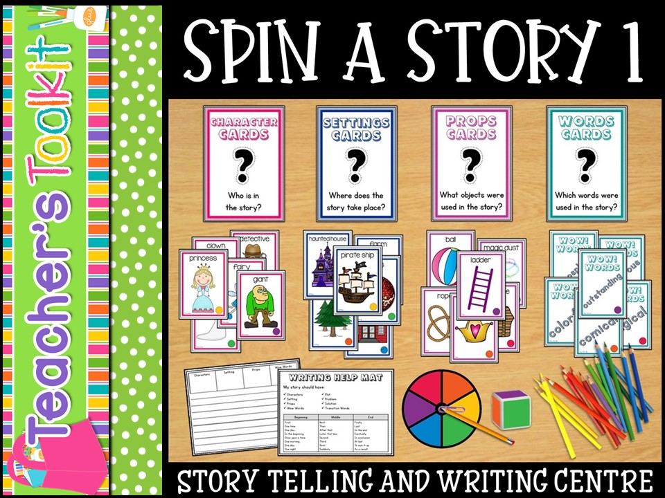 Storytelling and Writing Station Centre Spin-a-Story Set 1