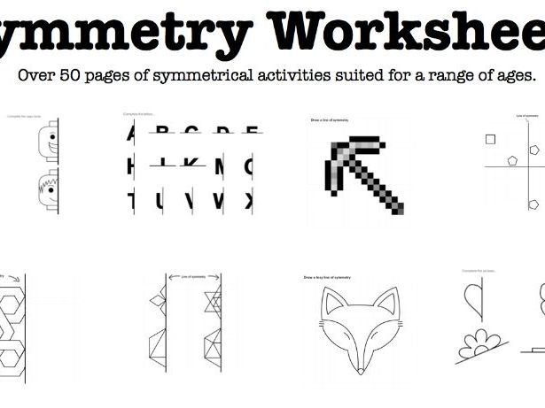 Symmetrical Activity Worksheets