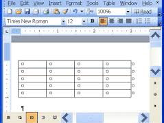 Creating Tables in Microsoft Word