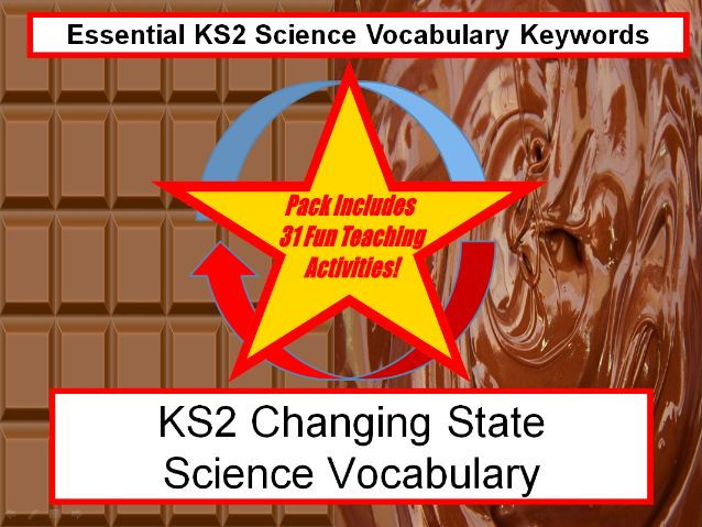 KS2 Changing State Science Vocabulary + Flashcards + 31 Fun Teaching Activities To Try In Classroom