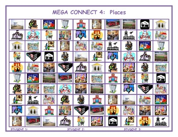 Places Mega Connect 4 game