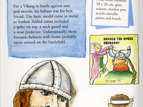 Viking Activities - How to make a helmet, shield, axe