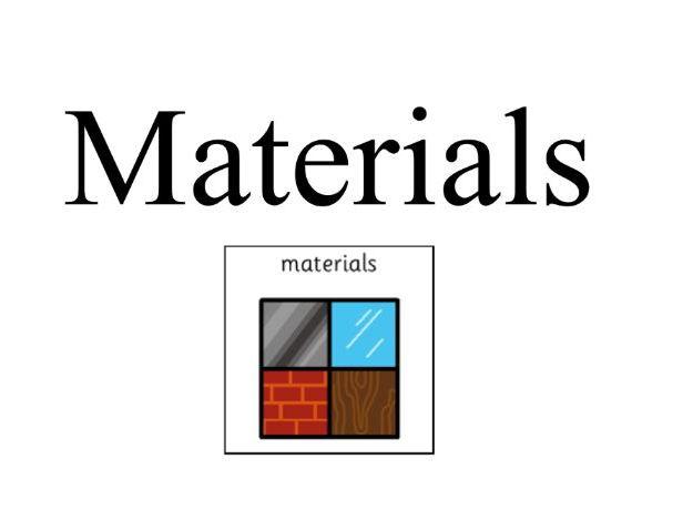 materials, comparing wood, plastics and metals