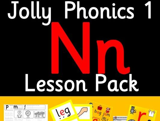 Phonics Worksheets, Lesson Plan, Flashcards | Jolly Phonics Letter N Lesson Pack