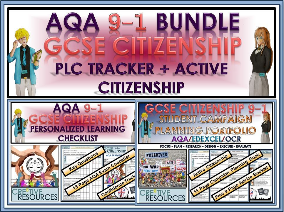 GCSE Citizenship (9-1) AQA - PLC Tracker + Active Citizenship Bundle