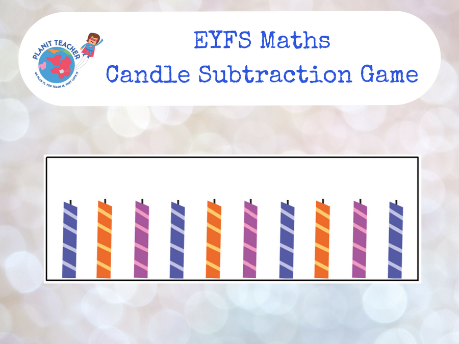 EYFS Maths Game - Candle Subtraction