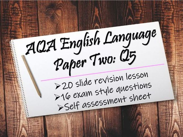 English Language Paper Two Question Five Revision & Exam Practice Questions