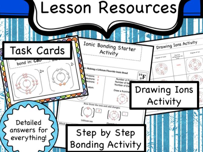 Ionic Bonding Lesson Resources
