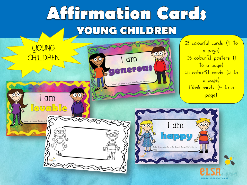 Affirmation Cards for young children - PSHE, Social and Emotional Learning