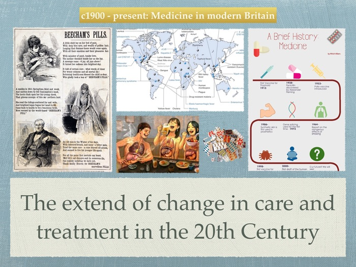 GCSE History of Medicine. 20th Century. The extend of change in care and treatment.