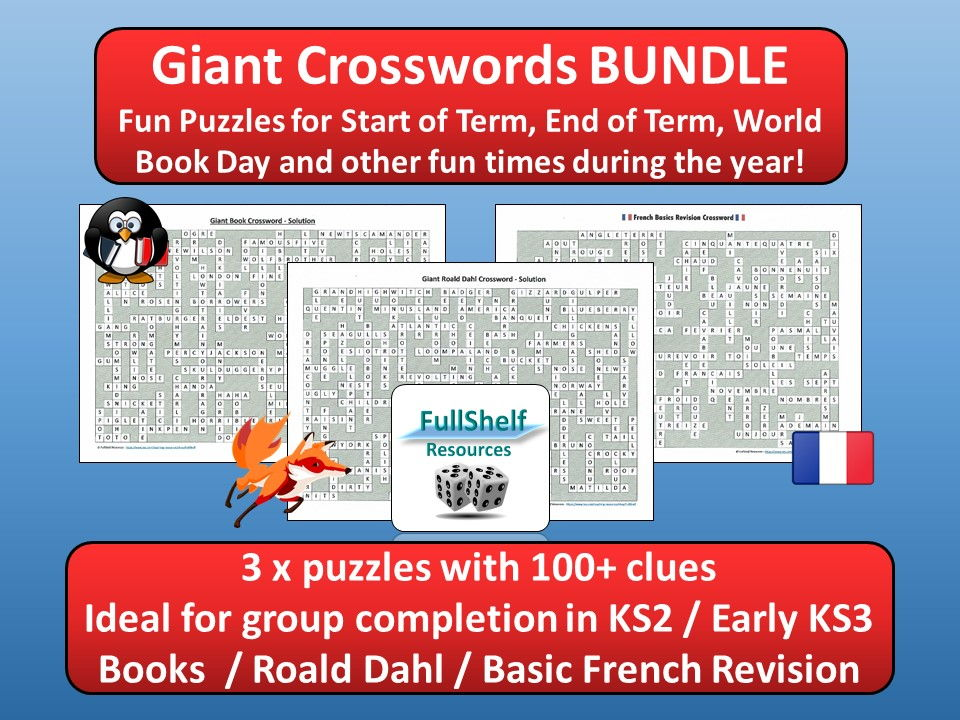 Fun Giant Crosswords BUNDLE