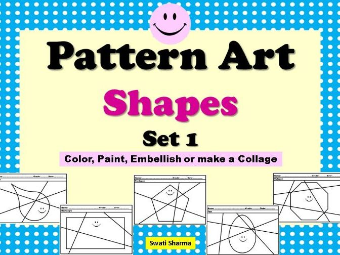 Pop Art/Pattern Art Shapes Set 1