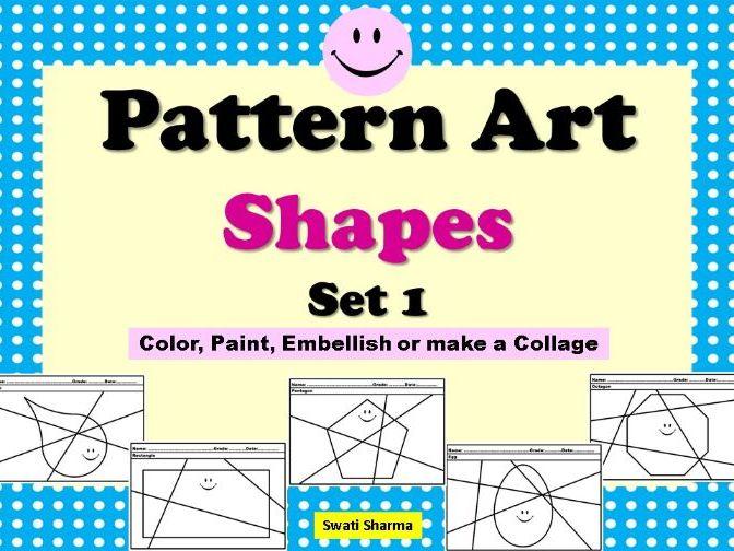 Pop Art/Pattern Art Shapes Set 1