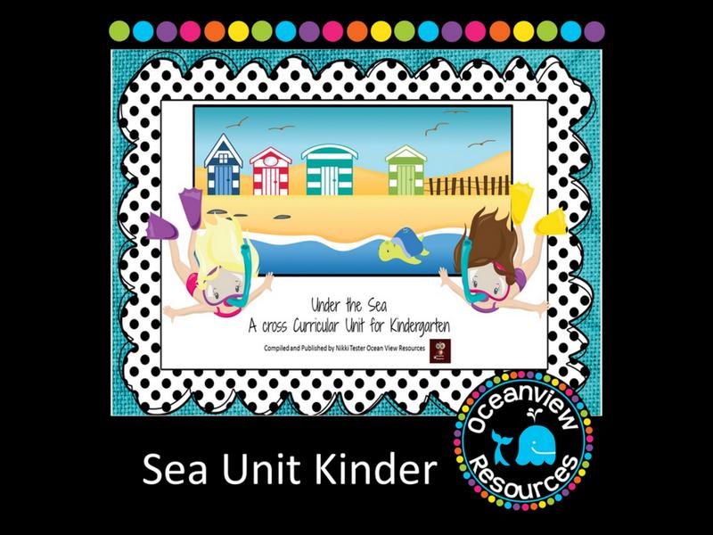 Kindergarten Sea Themed Cross Curricular Unit