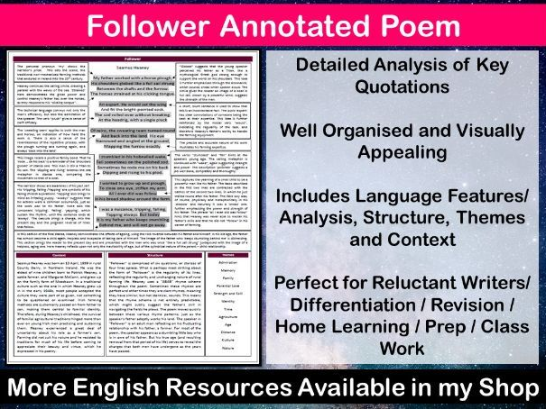Follower Annotated Poem