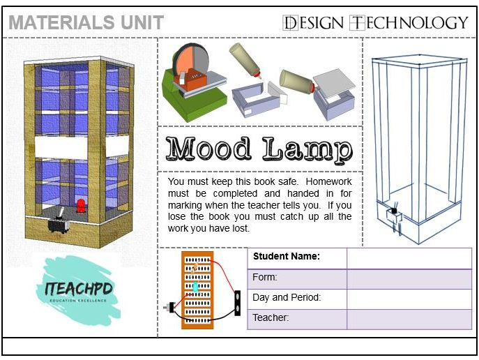 KS3 Lamp project - Booklet and SOW