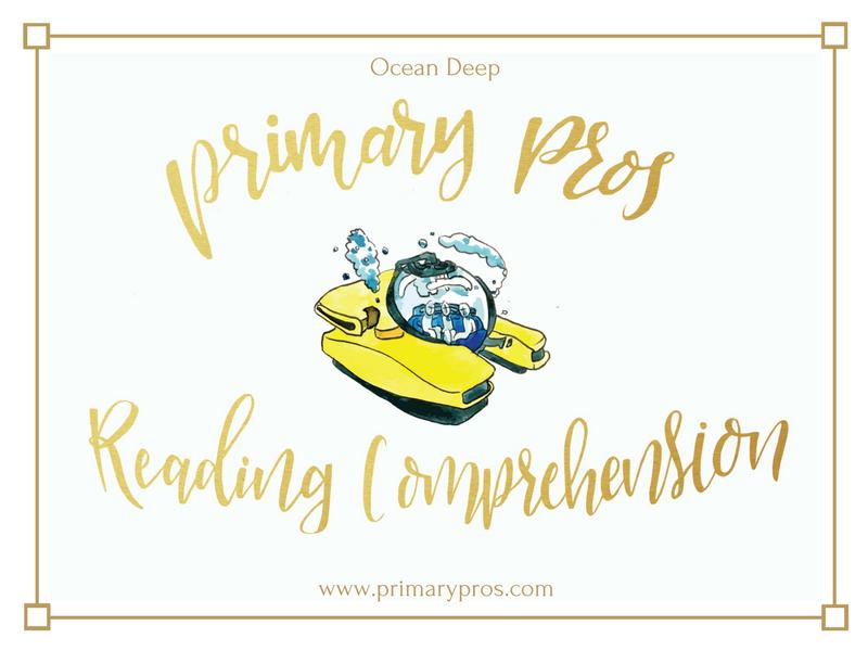 Year 3 & 4 Reading Comprehension - Ocean Deep