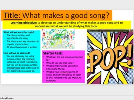 Music across the ages classroom project based scheme of work