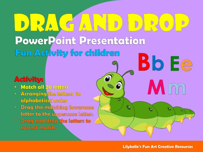 Uppercase and Lowercase Letters matching (Drag and drop)