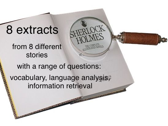 8 Sherlock Holmes comprehensions from 8 different stories