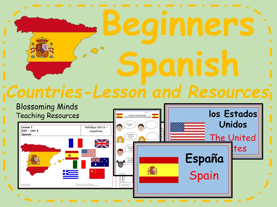 Spanish Lesson and Resources - KS2 - Countries