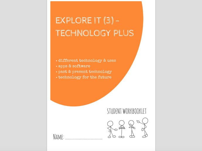 SPECIAL EDUCATION - EXPLORE IT (3) - USING TECHNOLOGY & APPS workbooklet