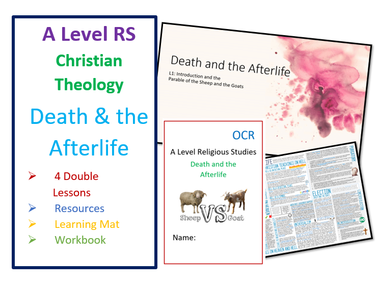 OCR A Level: Death and the Afterlife - Whole Unit plus Learning Mat and Workbook