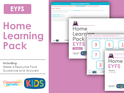 FREE Week 6 Home Learning Pack for EYFS