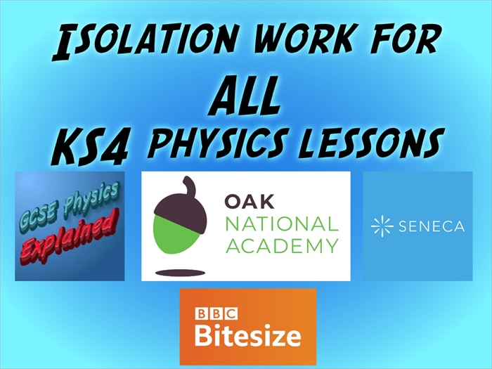 Isolation work for ALL physics lessons