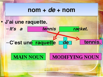 Compound nouns in French power point